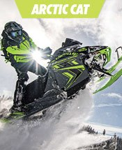 Green Arctic Cat Snowmobile.