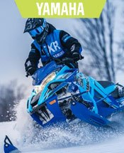 Blue Yamaha Snowmobile.