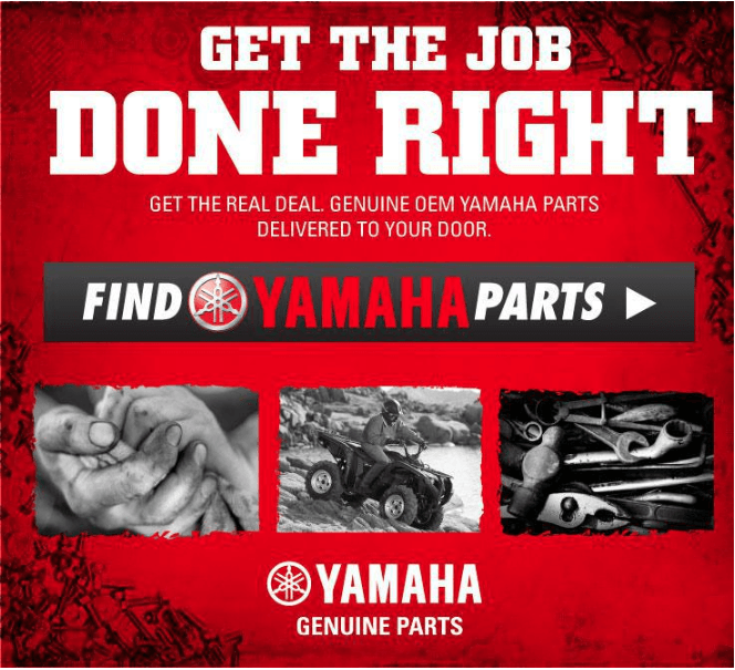 Grease stained hands, a man on an ATV, and a pile of wrenches, with text Get the Job Done Right.